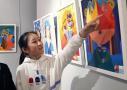 北京东城举办小学生画展