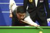 丁俊晖领先麦克吉尔 距斯诺克世锦赛八强只差一局