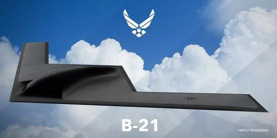 美国未来战略轰炸机B-21想象图