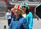 北京游客花样防晒