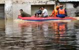 【组图】广东阳春部分街道房屋被洪水浸泡
