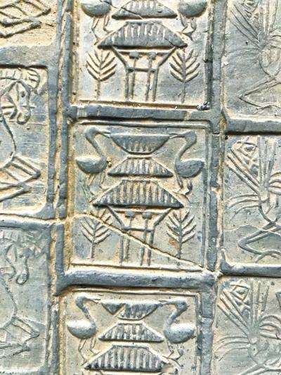 西汉画像砖上的雀楼图案