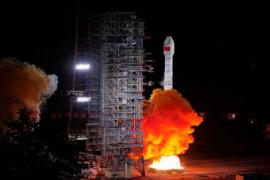 四颗北斗导航卫星接入系统 提供定位导航授时服务