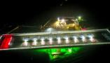 山东新台高速跨兖石铁路转体桥成功转体