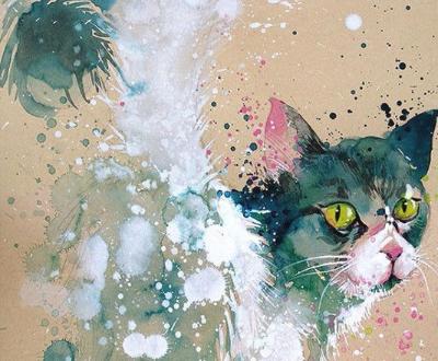栩栩如生:画笔下的水彩动物要从画中跑出来了-中国