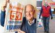 跟英国老爷子学节俭环保:一个塑料袋用了34年(图)