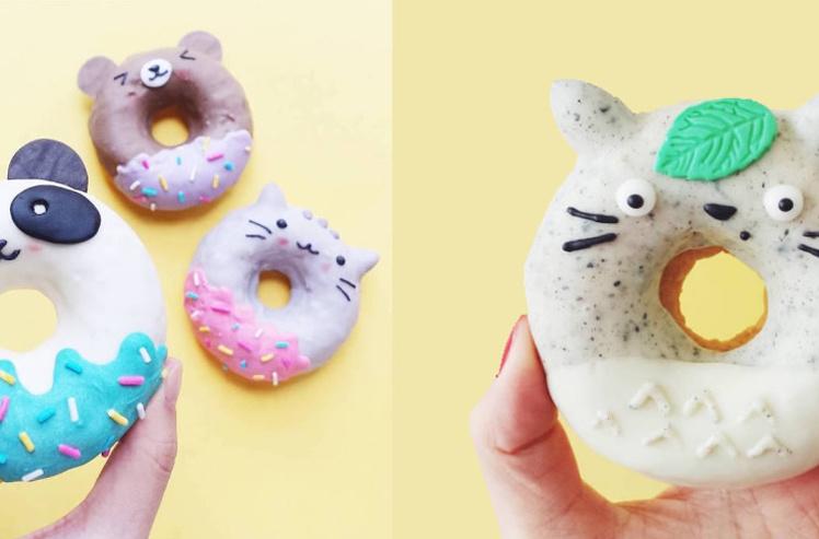 超级可爱甜甜圈 让人舍不得下口