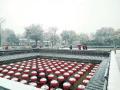 河南崤山覆新雪 陕州地坑院也展现别样风味