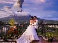 火山喷发他们办婚礼