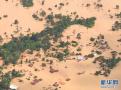 老挝水电站溃坝现场