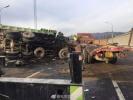 北京北五环发生3辆大货车追尾事故 一名司机死亡