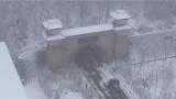 雅康高速通车在即·318国道二郎山隧道口 二郎山高万丈 冬季雨雪很平常