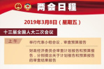 3月8日两会日程:人大将举行第二次全体会议 外长答记者问