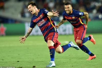 梅西两球。