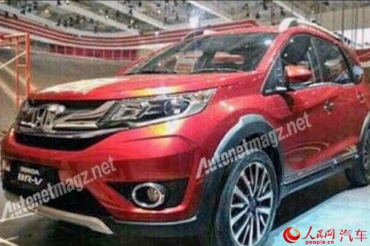 本田新款SUV车型BR V实车首曝 明年发售