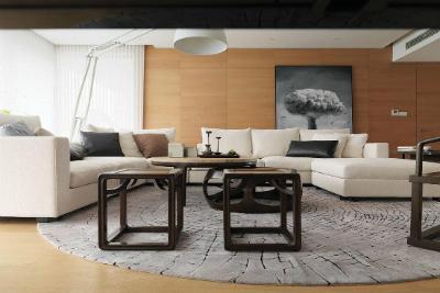 设计重点:家具搭配编辑点评:西式白色家具搭配中式深