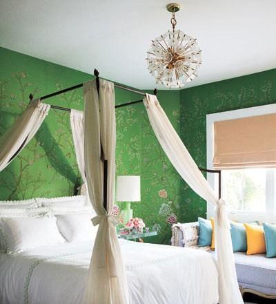 卧室墙体手绘图片