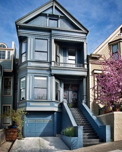 旧金山优雅蓝色别墅 才售160万美元
