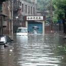 武汉黄陂强降雨至内涝