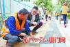 厦门道路提升改造春节不歇工 确保道路提升改造工程