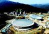 渔洋关镇文广中心与体育馆主体已经完工