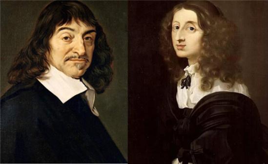 笛卡尔(左),克里斯蒂娜(右)图片