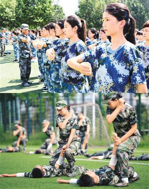 组图:新生第一课 军训砺意志