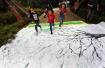 杭州江洋畈公园山花节活动倡导游客健康步行