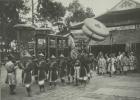 老照片:百年前的越南皇帝祭天,场面宏大