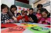 邯郸涉县第二幼儿园教孩子剪纸 加强素质教育