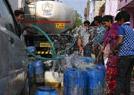 新德里街头的供水车
