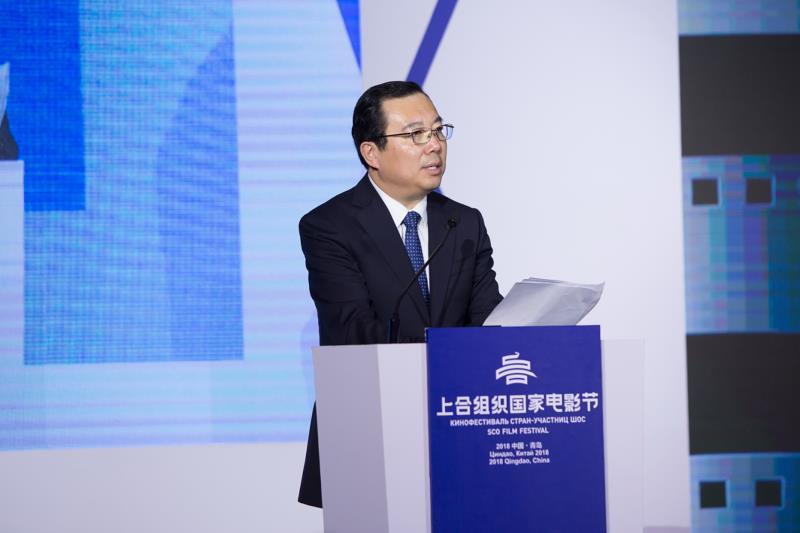 青岛市委常委、副市长王家新致辞。