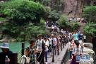探秘云台山红石峡:由古代溶洞冲击串联而成