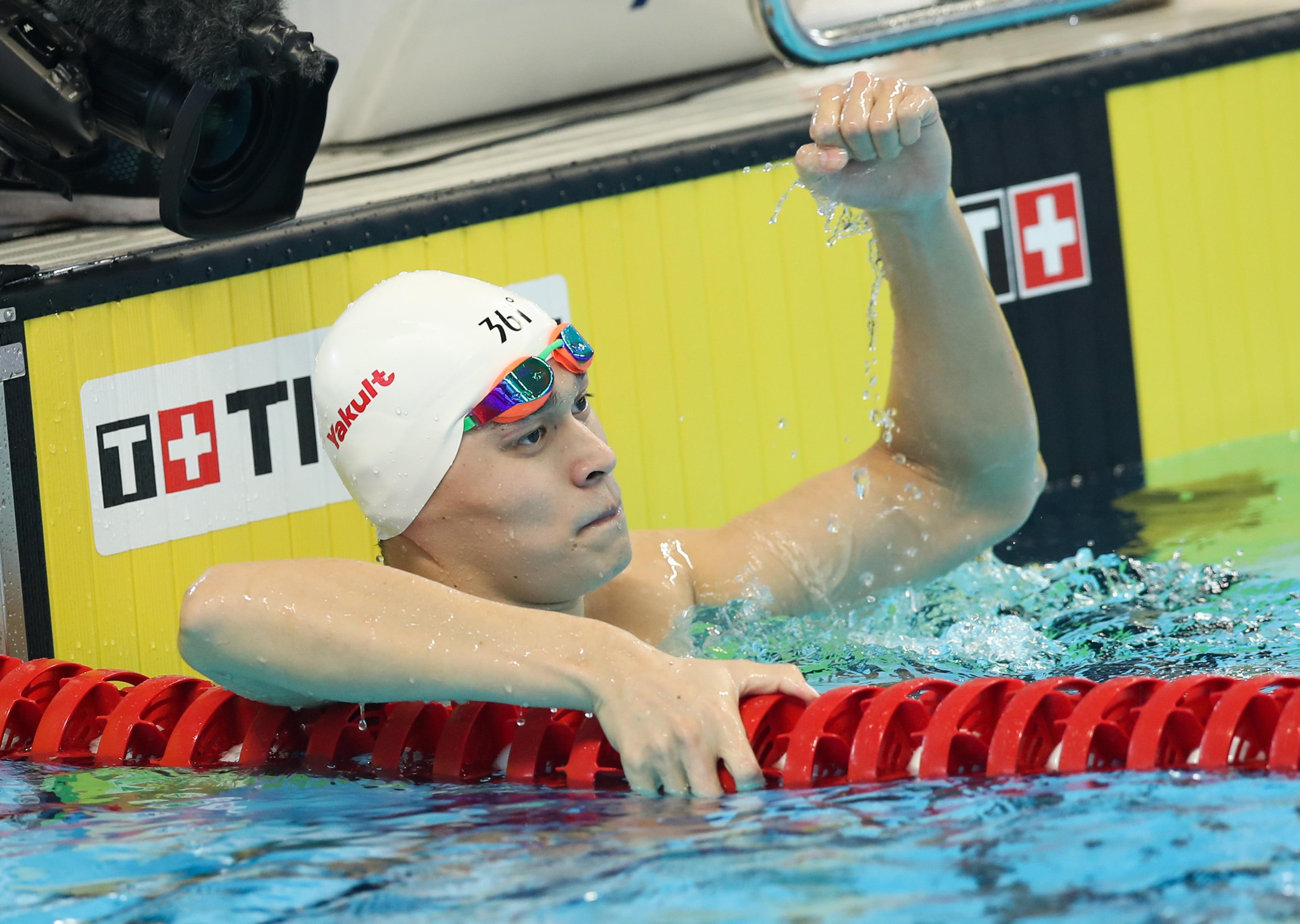 亚运会男子200米自由泳预赛 孙杨轻松头名晋级