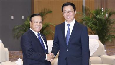 韩正会见出席中国国际智能产业博览会的各国领导人