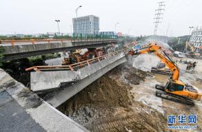 武警部队紧急参与无锡高架桥侧翻事故抢险救援