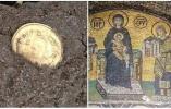 男子以为捡到瓶盖 发现竟是1500年前黄金吊坠