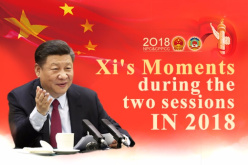 Xi's Moments during two sessions