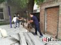 石家庄志愿者进社区 开展创城志愿服务