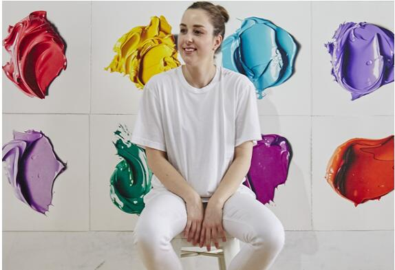 艺术家的超写实彩色颜料