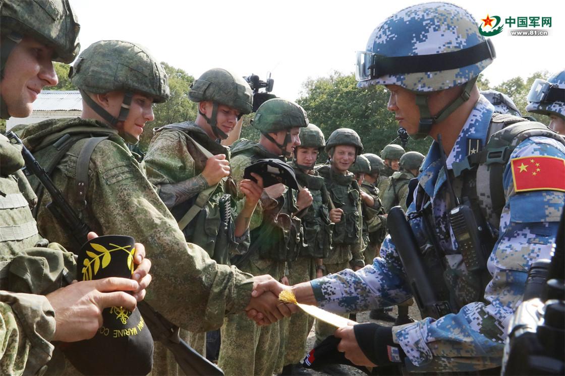 中俄陆战队反恐比赛