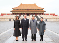 Xi and Trump visit three palaces in Forbidden City