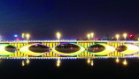 """长春南湖大桥七彩音乐喷泉带您入""""仙境"""""""