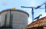 """中国自主三代核电技术""""华龙一号""""吊装穹顶 将进入安装阶段"""