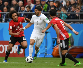 Gimenez leads Uruguay past Egypt 1-0 in WC Group A clash