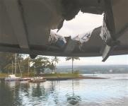 """夏威夷:""""熔岩炸弹""""击中游船 23人受伤"""