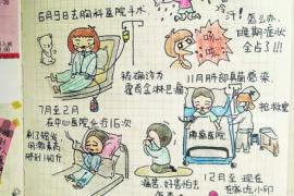 河南大四女生手绘抗癌日记 幽默乐观坚强传递抗癌力量