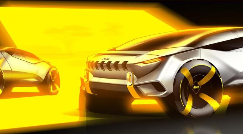 Jeep全新概念皮卡设计图发布 或将采用纯电驱动