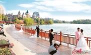 徐州经济技术开发区金龙湖畔景色宜人