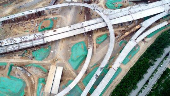 最大 济南/核心提示:立交桥北侧连接二环东路高架和老虎洞隧道,5层互通...